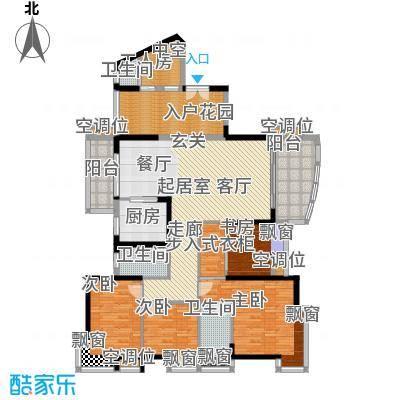 太东高地163.30㎡3栋D1户型四房二厅三卫163.30户型4室2厅3卫