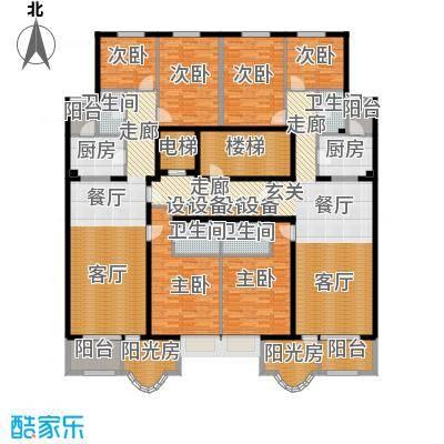 亚太国际公馆户型6室2厅4卫2厨