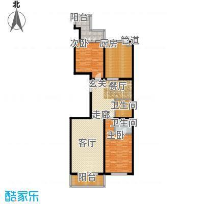 畅心园135.32㎡1号楼A1户型135.32平方米户型2室2厅2卫