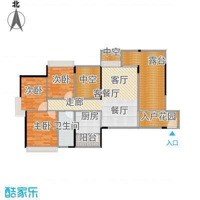 上品花园96.25㎡6栋01、07奇数层户型3室2厅1卫