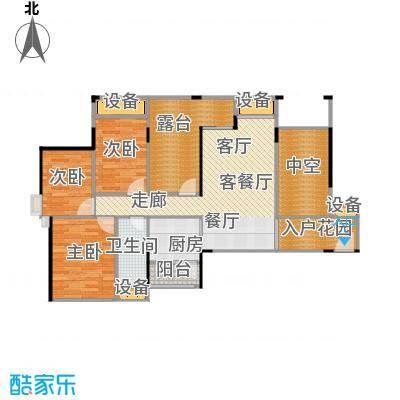 上品花园96.25㎡6栋01、07偶数层户型3室2厅1卫
