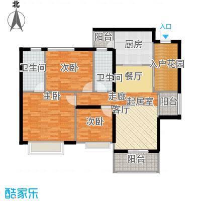 泓基悦苑106.00㎡1栋04/2、3、4、5栋03、04单位户型图户型3室2厅2卫