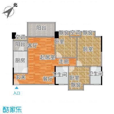 大自然广场95.99㎡10幢02户型3室2厅2卫