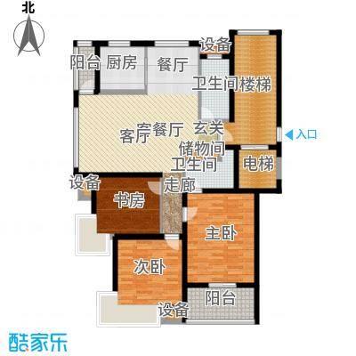 黄金海岸户型3室1厅2卫1厨