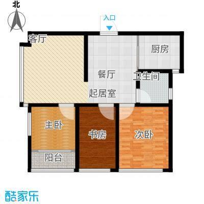骏龙花园108.20㎡A户型 三室两厅一卫户型3室2厅1卫