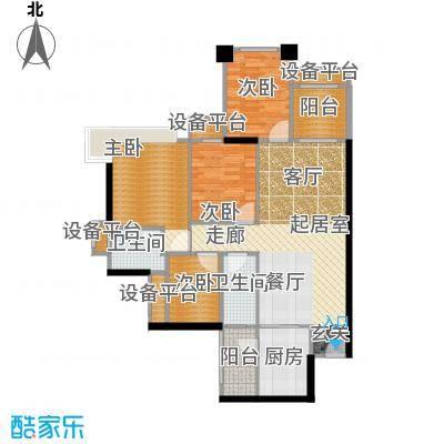 光耀荷兰小城97.00㎡01―03号楼B户型3室2厅2卫1厨户型3室2厅2卫