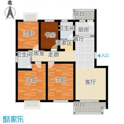 滨海桂冠户型4室2卫1厨