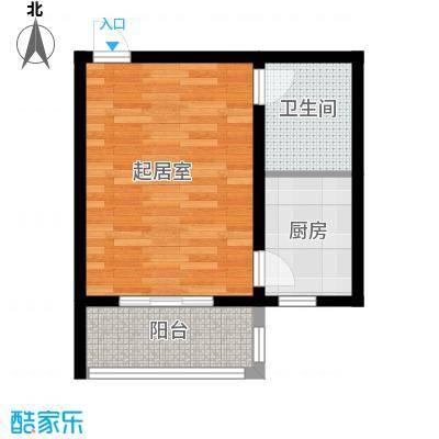 藏龙镇40.25㎡一居B2户型1室1厅1卫