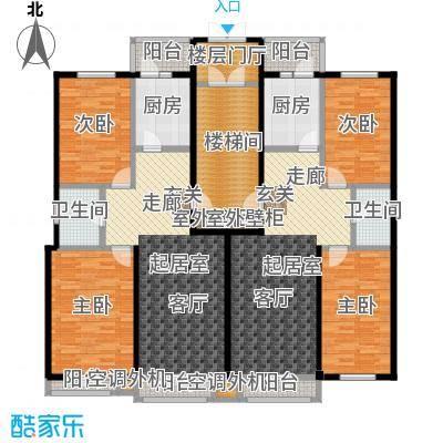 鹤乡茗苑F户型图建筑面积86.63-93.2平方米户型2室1厅1卫