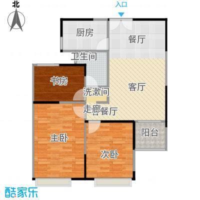绿地新都会A3户型3室1厅1卫1厨