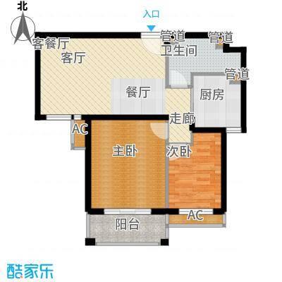 江南世家84.00㎡户型c户型2室2厅1卫
