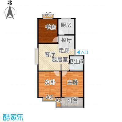 滨海花园88.81㎡9#A 户型两室一厅一卫户型2室1厅1卫