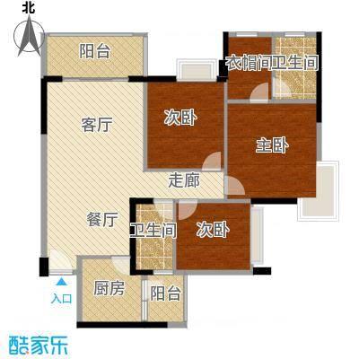 大信君汇湾121.76㎡J6栋03户型3室2厅2卫