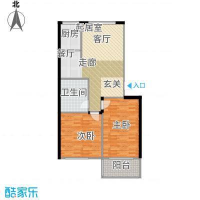 经区小城故事85.00㎡两室两厅两卫户型