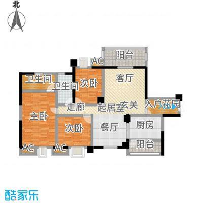 大信君汇湾K6、K7栋02入户花园双阳台-T户型3室2卫1厨