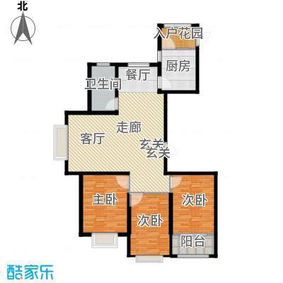 新城湖光山舍138.96㎡13 /15# A户型 三室两厅一卫户型3室2厅1卫
