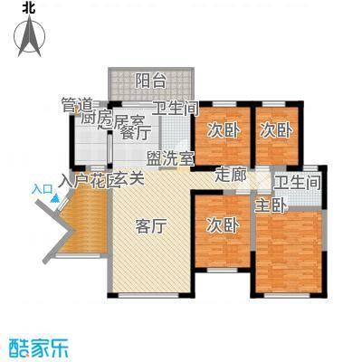 万盛凤凰城4#06单元(2+2)房2厅2卫,约113.39㎡户型4室2厅2卫