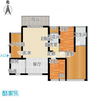 万盛凤凰城1#06单元(2+1)房2厅(1+1)卫,约87.97㎡户型3室2厅2卫