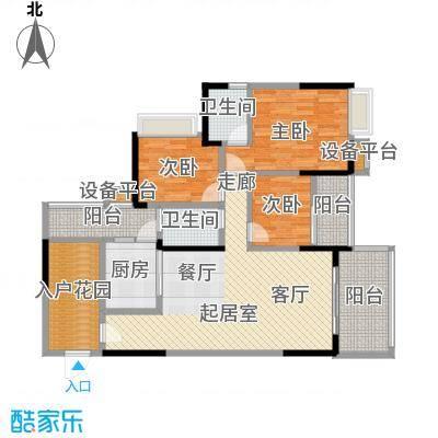 恒泰嘉园派115.00㎡4栋01/04户型 115平米三房两厅两卫户型