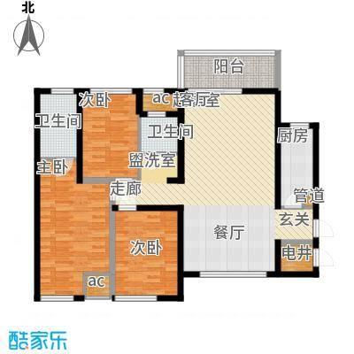 万盛凤凰城1#05单元(2+1)房2厅(1+1)卫,约88.86㎡户型3室2厅2卫