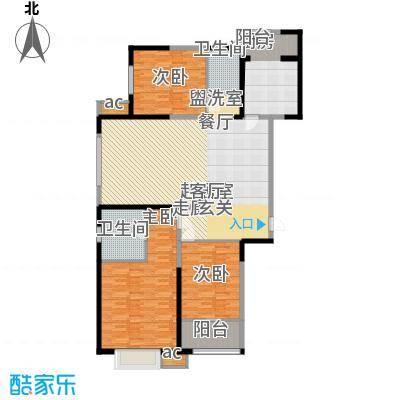 北大锦城157.00㎡10/14/17/18楼B户型 157㎡户型3室2厅2卫
