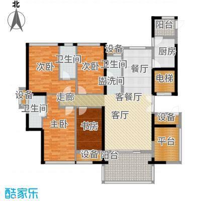 富邦新天地二期户型4室1厅3卫1厨