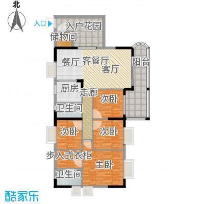 银信花园142.00㎡142平米 四房二厅二卫户型4室2厅2卫