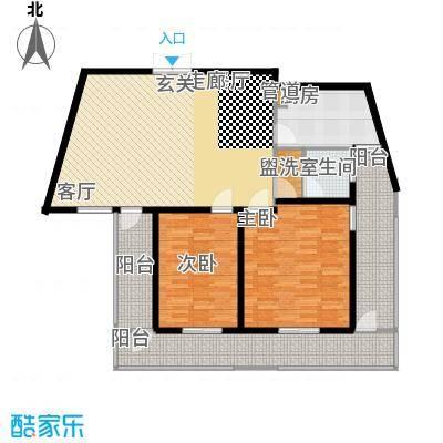 名人国际 TOP世界观155.07㎡02户型B户型两室两厅一卫户型2室2厅1卫