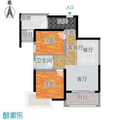 南昌万达城79.00㎡C区住宅A1户型2室2厅1卫