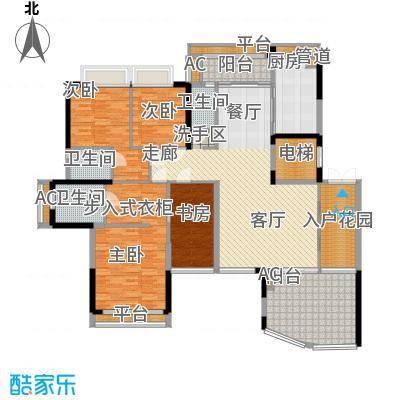 帝�东方172.38㎡35幢偶数层02户型4室2厅3卫