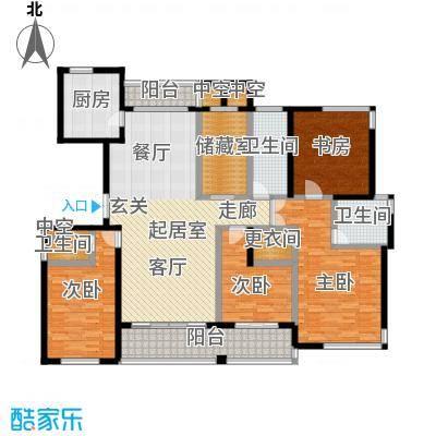 金色水岸四室二厅三卫――210平米户型
