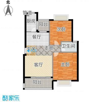 五洲云景花苑90.00㎡房型: 二房; 面积段: 90 -110 平方米; 户型