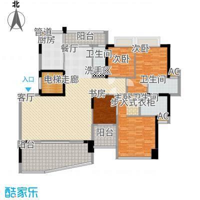 帝�东方194.00㎡26幢301单元 建筑面积约194平米,套内面积约164平米户型4室2厅2卫