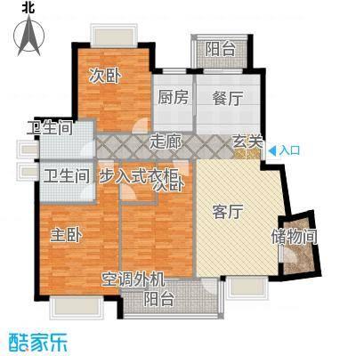 五洲云景花苑110.00㎡房型: 三房; 面积段: 110 -130 平方米; 户型
