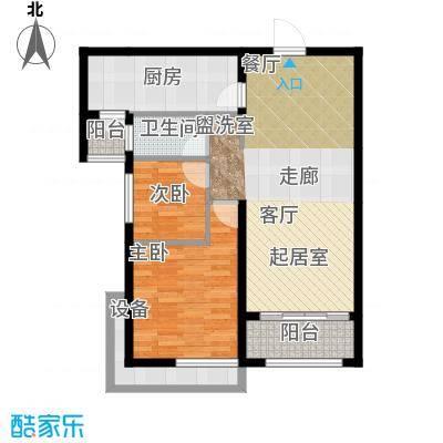 保利鑫城84.36㎡二室二厅一卫面积:84.36平方米户型2室2厅1卫