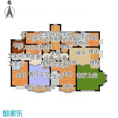 亚太国际公馆E单元(跃层上)户型