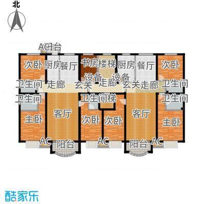 亚太国际公馆H单元标准层户型