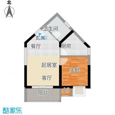 领御玺台独立的餐厅和厨房给您一个独立的空间QQ户型1室1卫1厨