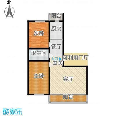 畅心园121.71㎡畅心园9号楼 户型 面积121.71平方米户型2室1厅1卫