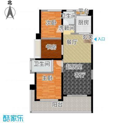 泽华・上东海岸103.00㎡A-3户型3室2厅2卫