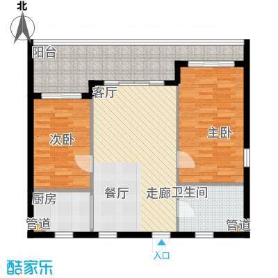 双大・山湖湾B户型2室2厅1卫