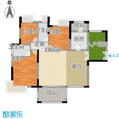 远洋城天祺144.00㎡11栋01户型3室2厅2卫