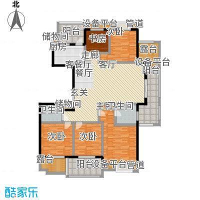 亚东朴园户型5室1厅2卫1厨