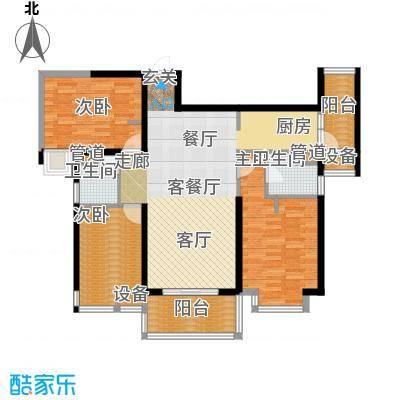 华鸿水云四季F户型3室2厅2卫
