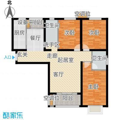 睿和新城户型3室2卫1厨