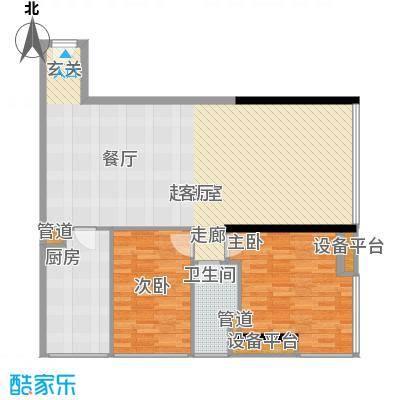 达兴豪苑101.96㎡101.96平米 二房二厅一卫户型2室2厅1卫