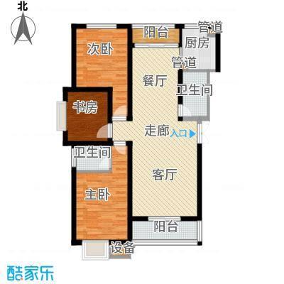 凯旋国际广场92.20㎡B户型 2室2厅1卫1厨户型2室2厅1卫