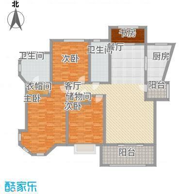 上海公馆147.33㎡2#C3户型3室2厅2卫