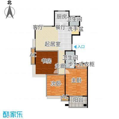 金山福地二期124.00㎡三室二厅二卫 面积:120-124平方米户型3室2厅2卫