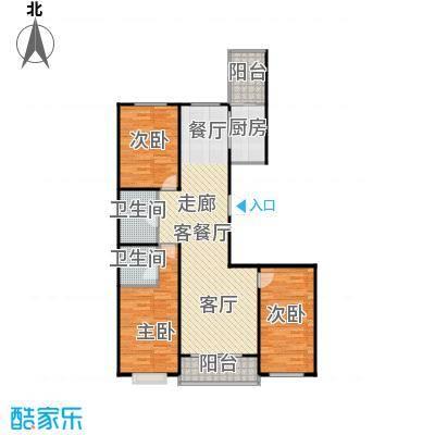 碧水云天颐园户型3室1厅2卫1厨